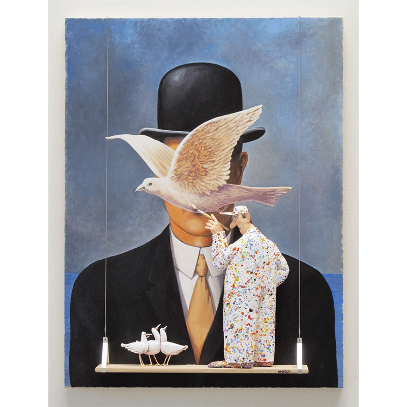 Man in a Bowler Hat (Magritte), 2018