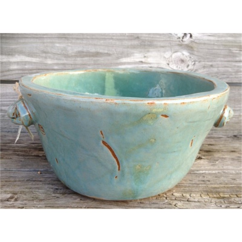 Large Turquoise Bowl with handles, 2019