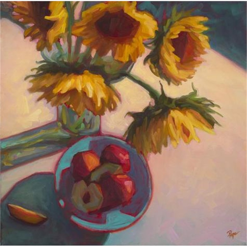 Sunflowers and Nectarines