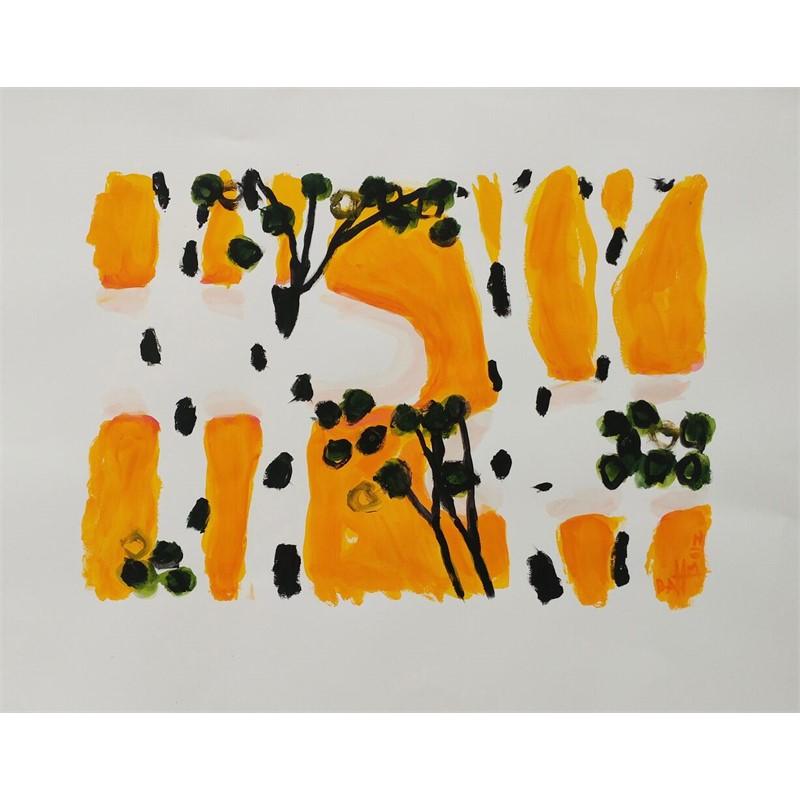 Yellow Sky Birches