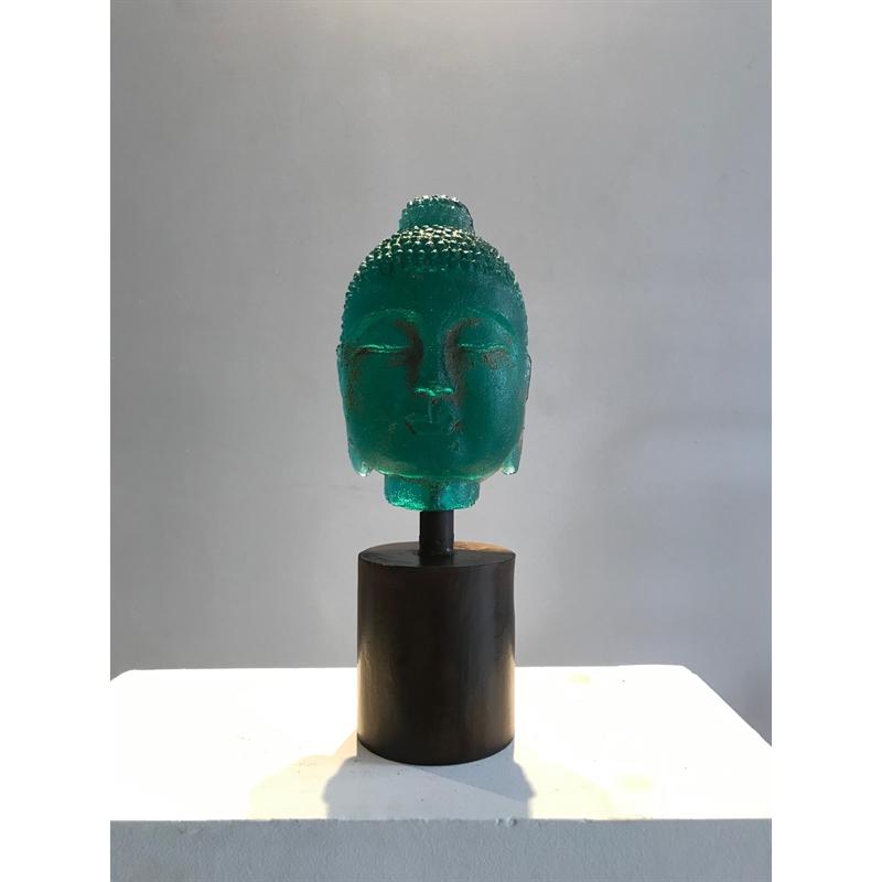 Bookshelf Buddha - Aqua by Marlene Rose