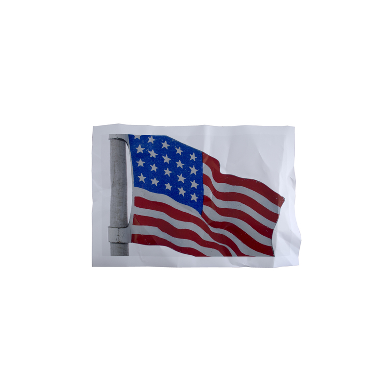 """""""It's a Grand Wrinkled and Rusted Old Tin Flag"""" by Jim Riswold"""