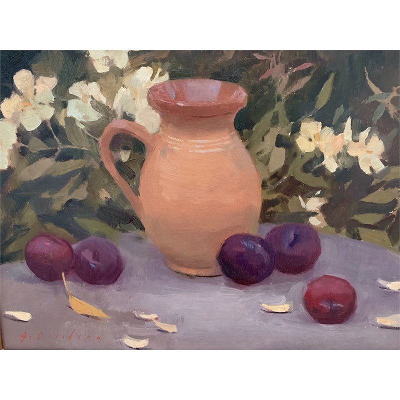 Plums and French Pitcher, 2019