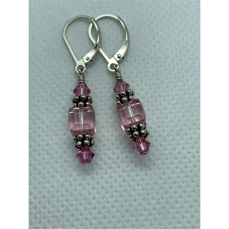 Pretty in Pink Earrings by Shoshannah Weinisch
