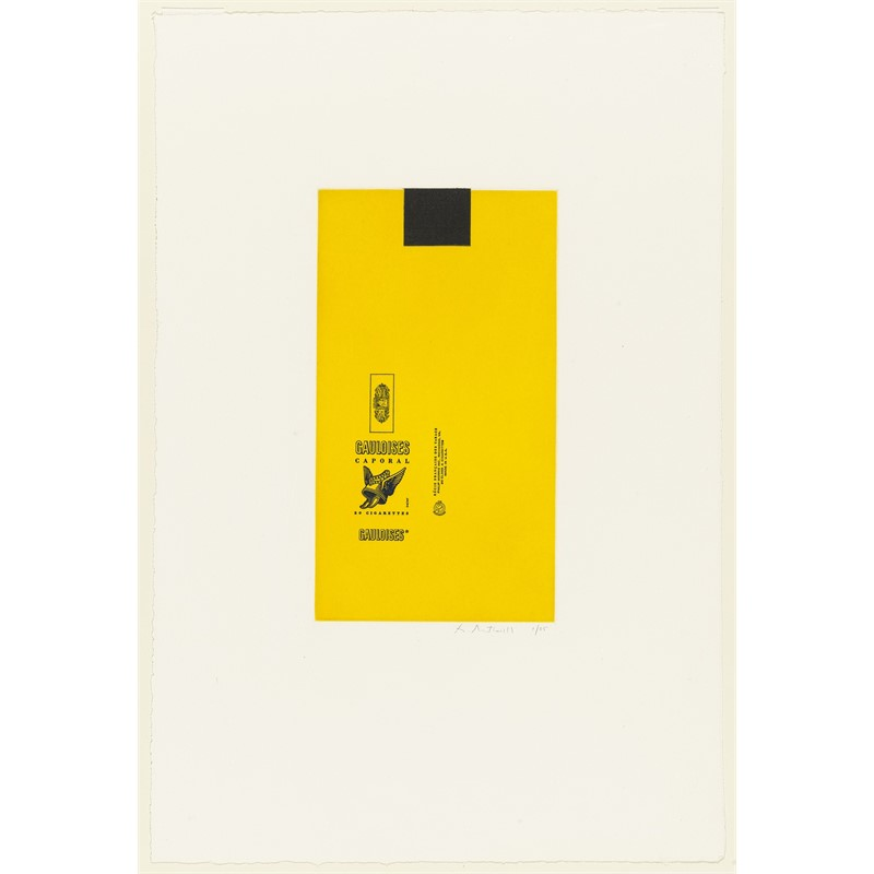 Gauloises Bleues (Yellow with Black Square) (Printers proof/35), 1971