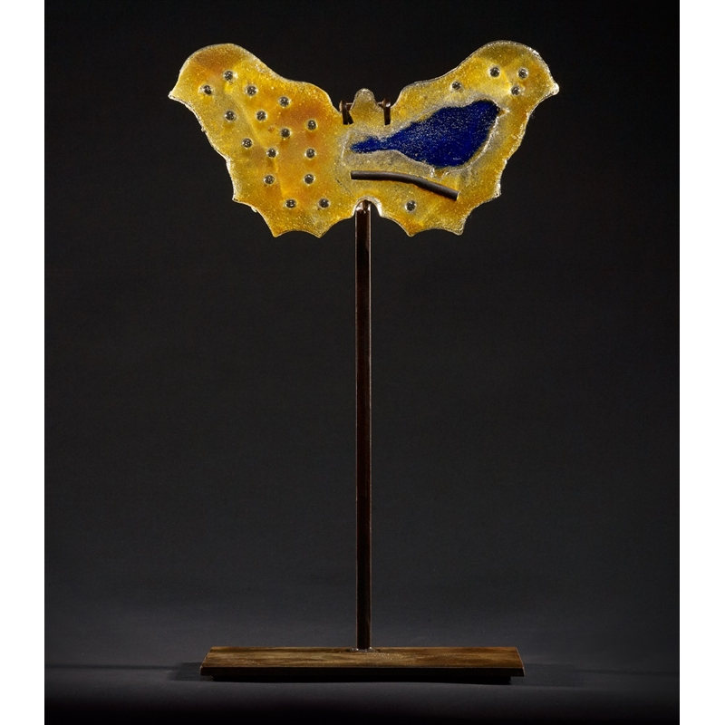 Butterfly - Gold with Blue Rainbird, 2020