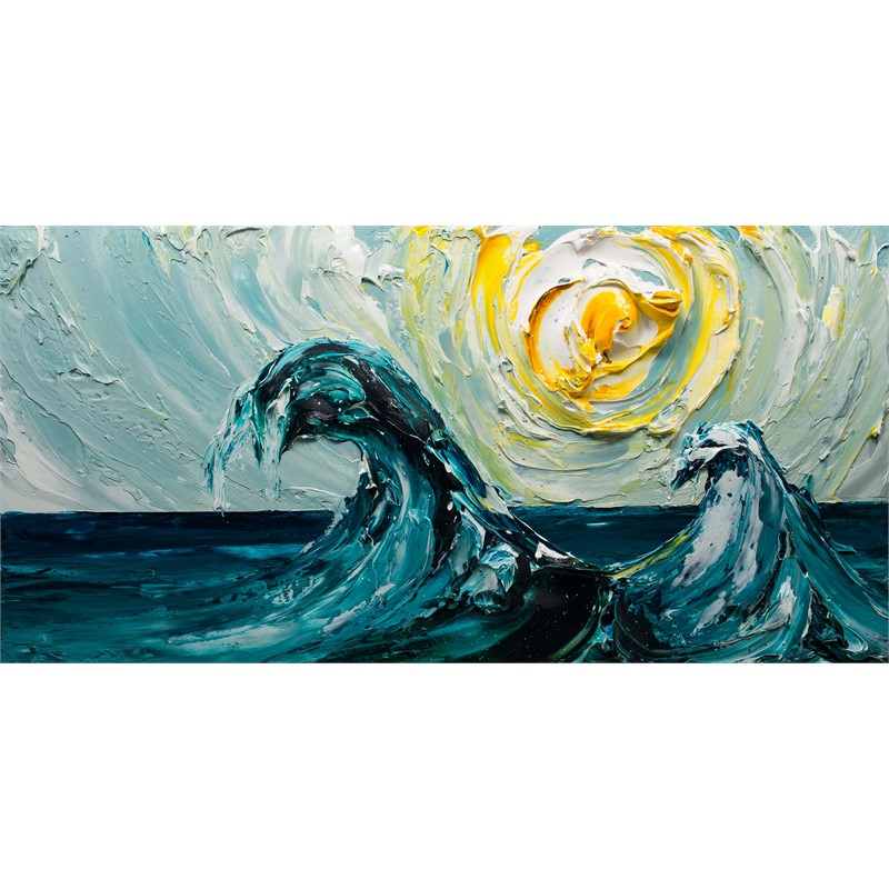 Seascape of Waves SS-60X30-2019-157, 2019