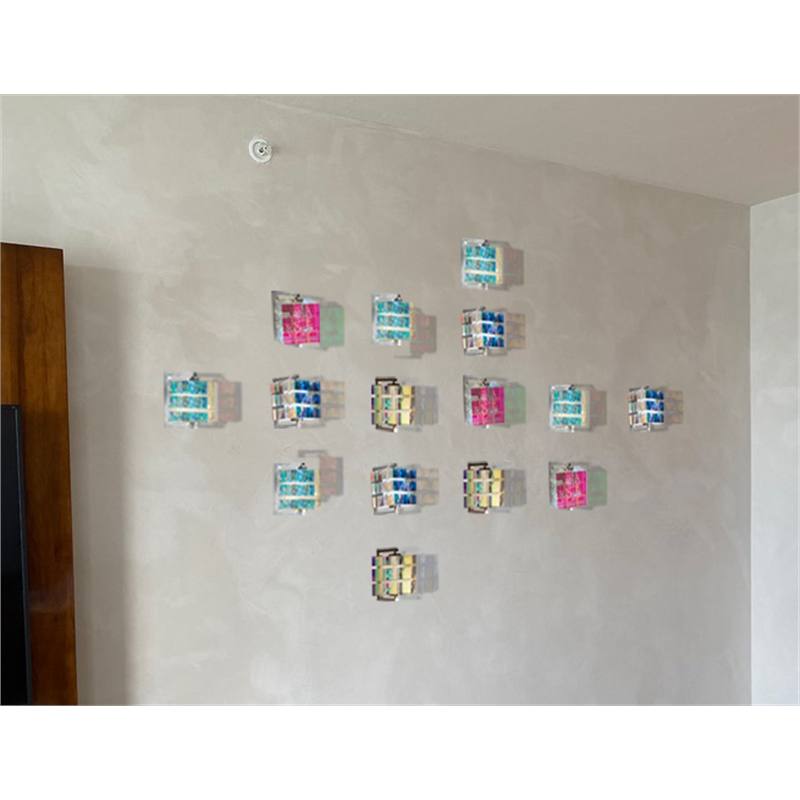 Commission of 15 wall cubes, 2019