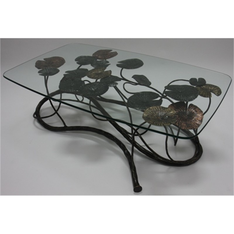 Wrought Iron and Glass Table by Aaron Heisler