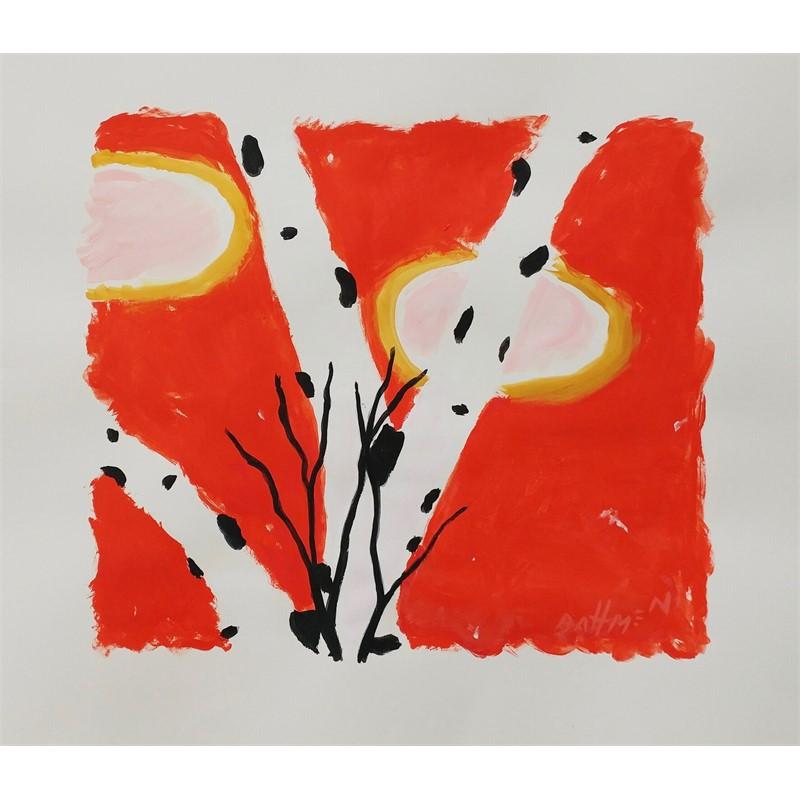 Red Sky Birch #1