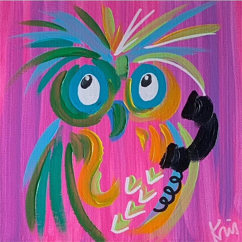 Pink Calling Bird by Kris Manning