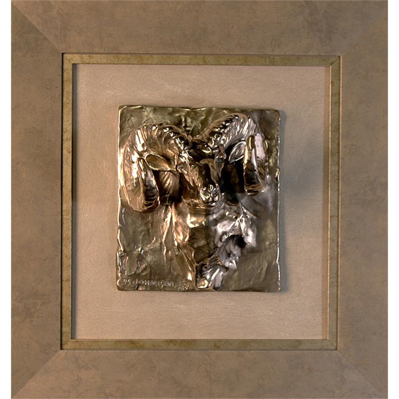 Ram Head Relief - Unframed Bighorn Sheep (45/250)