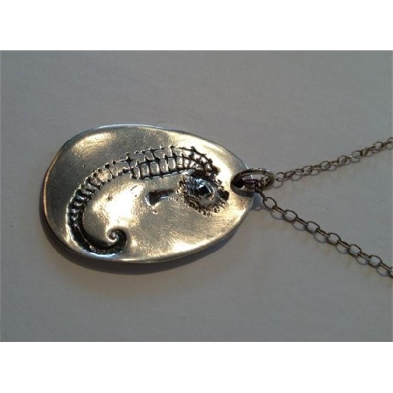 Fine Silver Seahorse Pendant