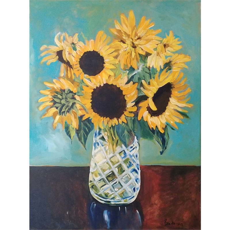 Sunflowers in Crystal, 2017