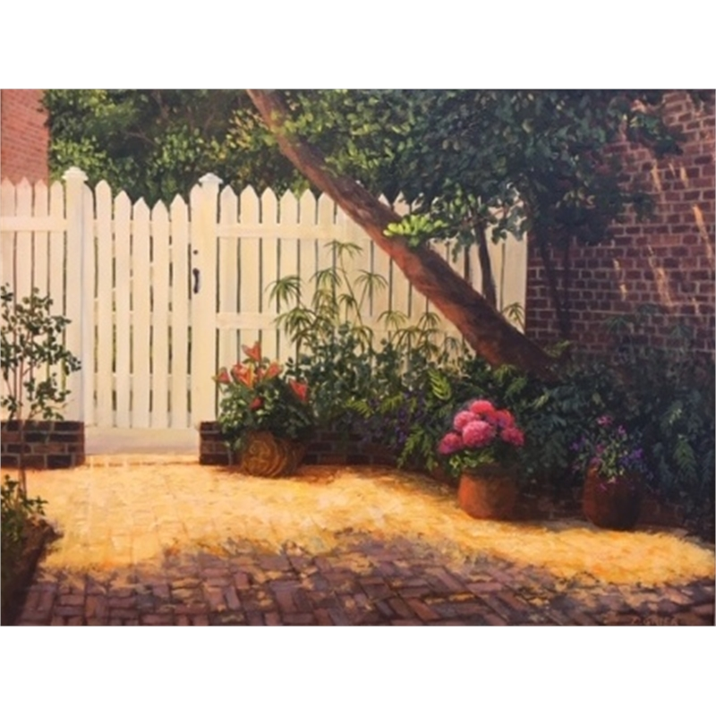 Spring Courtyard on Tradd Street by Douglas Grier