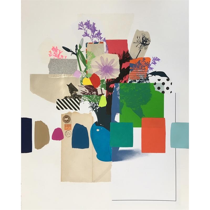 Paper Bouquet (green hydrangea), 2019