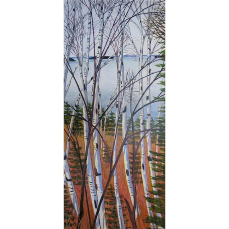 Birches on River