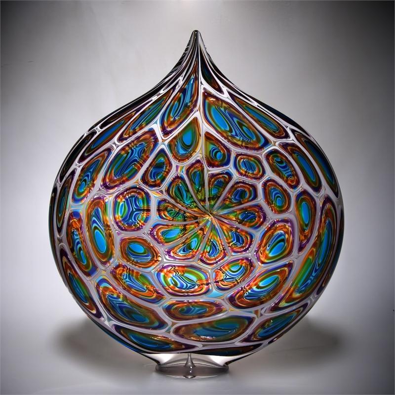 Aqua/Gold/Hyacinth Parabola by David Patchen