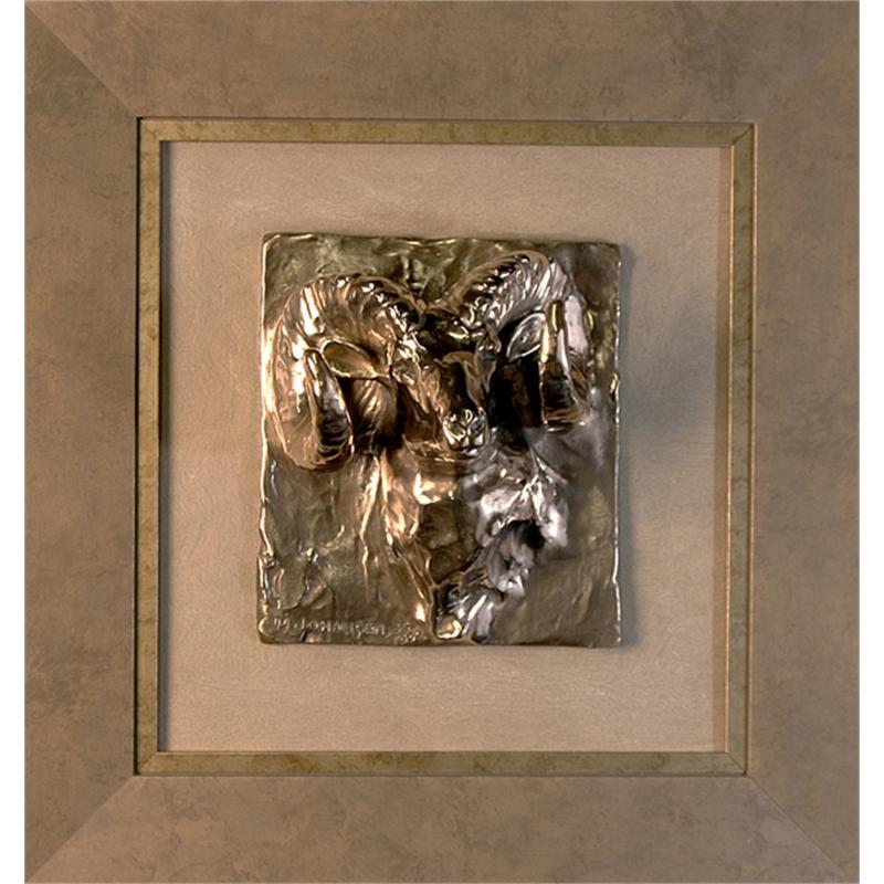 Ram Head Framed Relief (37/500)