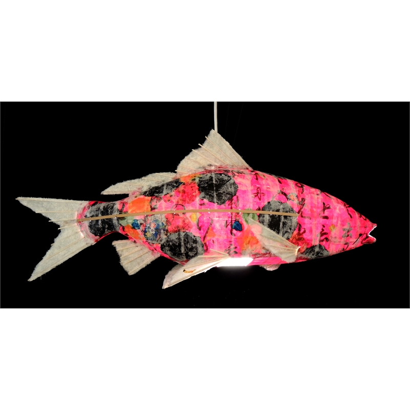 Ruby Koi Chandelier