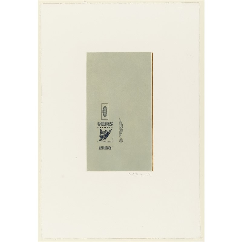 Gauloises Bleues (Raw Umber Edge) (Printers proof/38), 1971