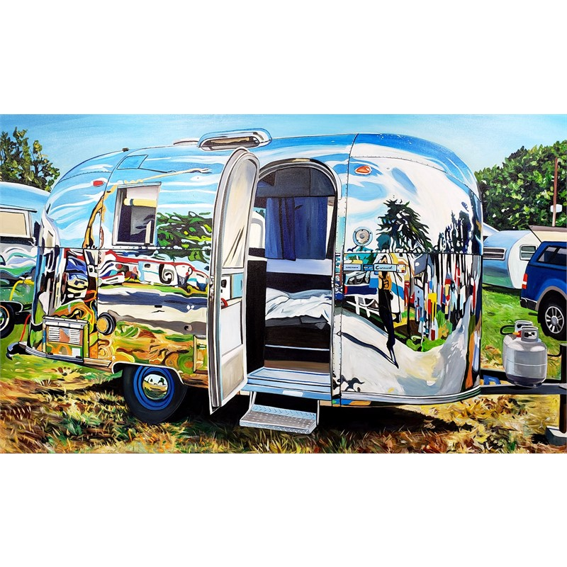 Airstream Self-Reflection, Lynden, WA, 2019
