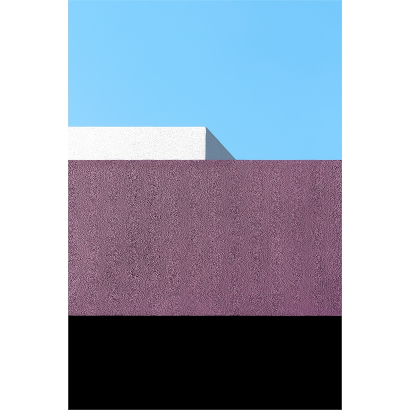Purple with Black, White and Blue (1/5), 2019