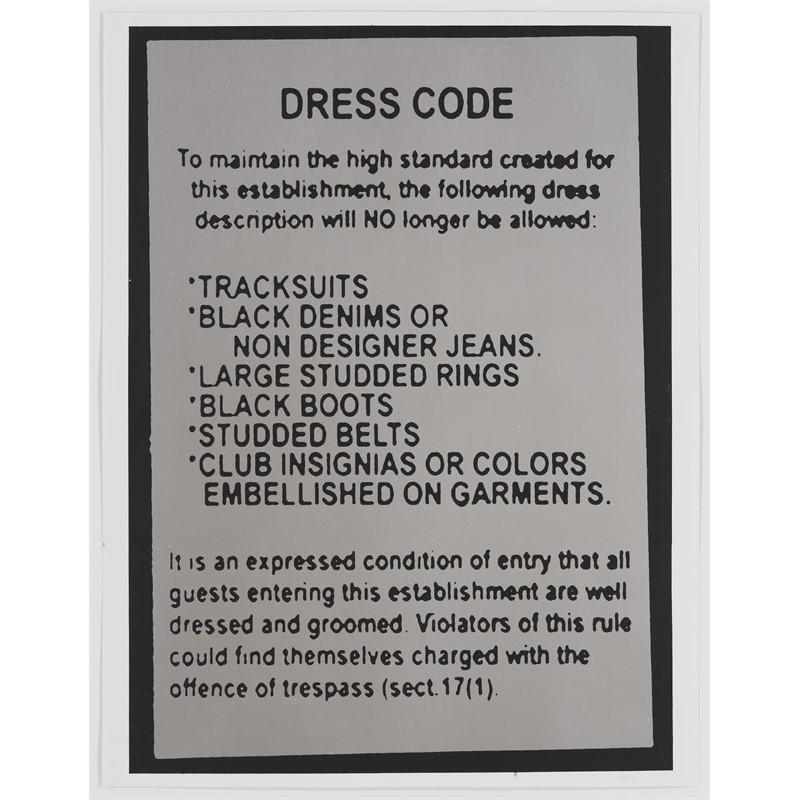 Untitled (Dress Code) (1/200), 2005