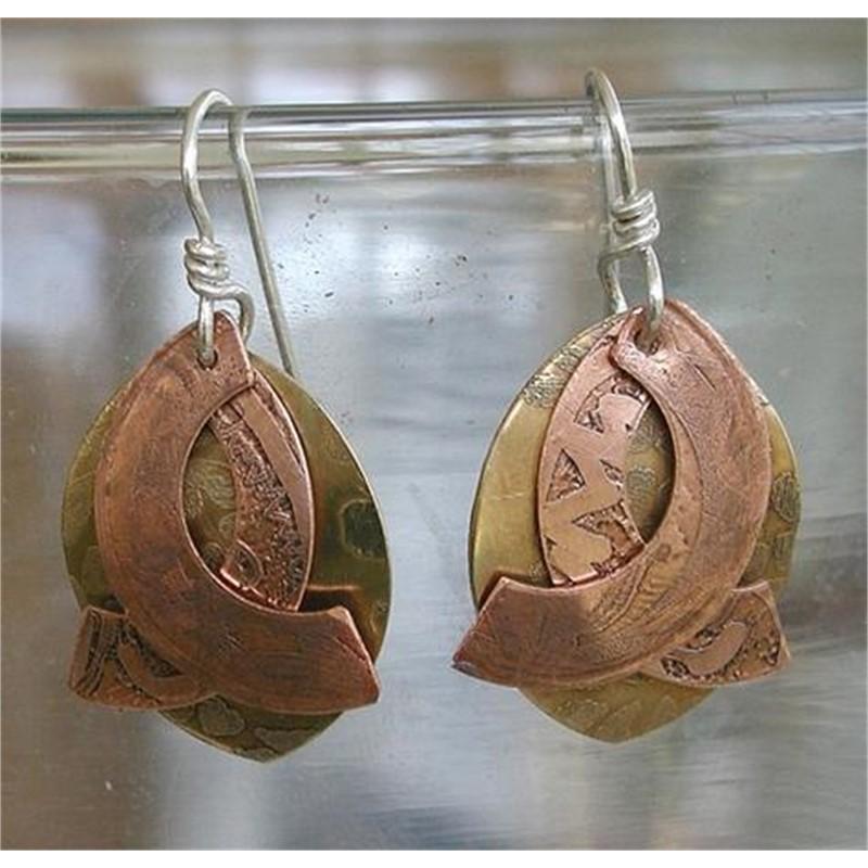 Oval / Wing Earrings by Duffy Brown
