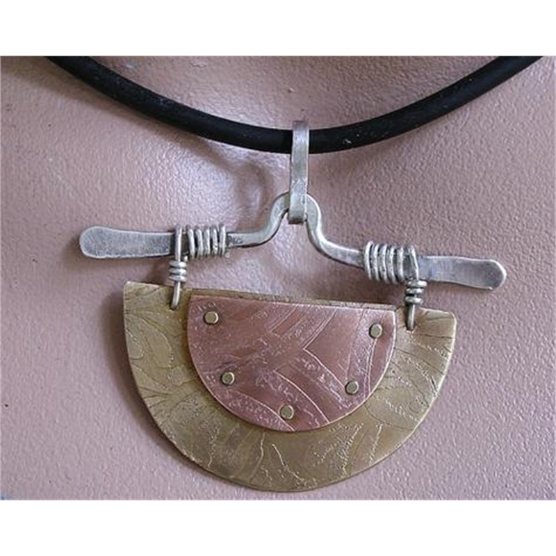 Pendant with Chinese Motif by Duffy Brown