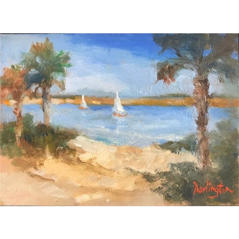 Sailboats on Waterway