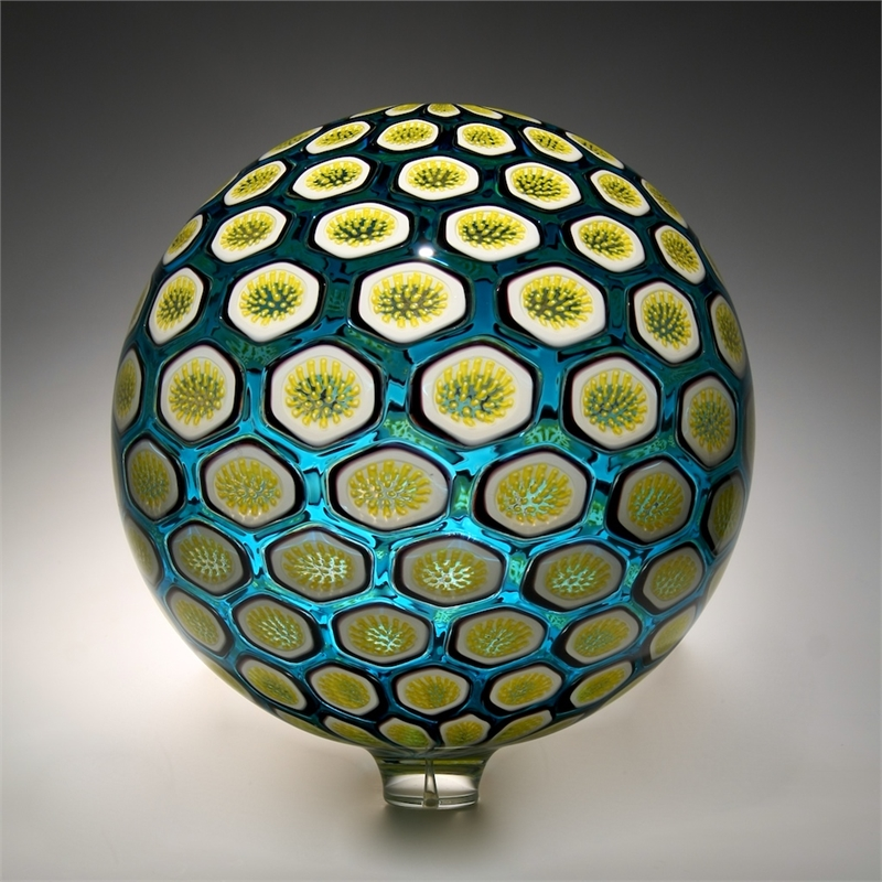 Teal Islands Sphere by David Patchen