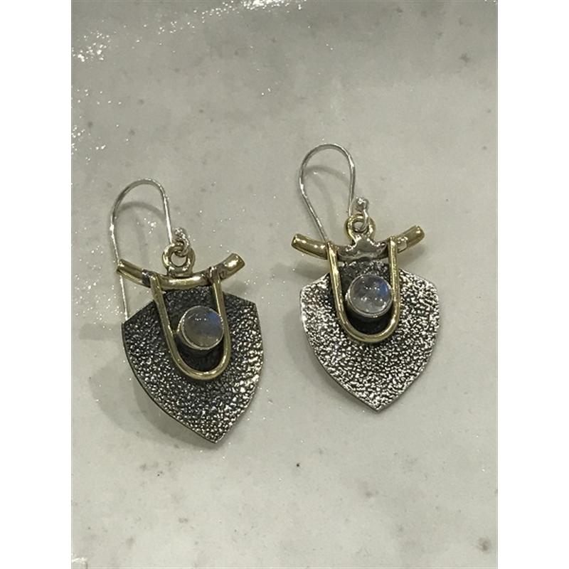 Earrings Sterling, Moonstone, 2020