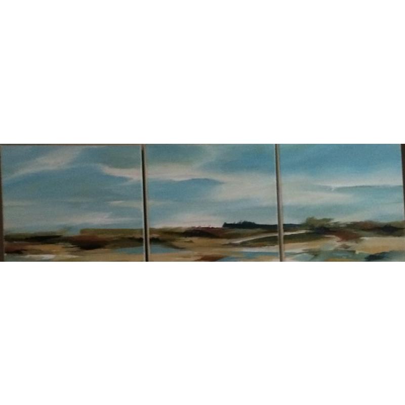 Coastal Marsh Triptych
