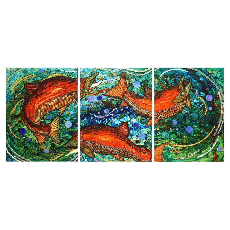 Cosmic Surge (Triptych)