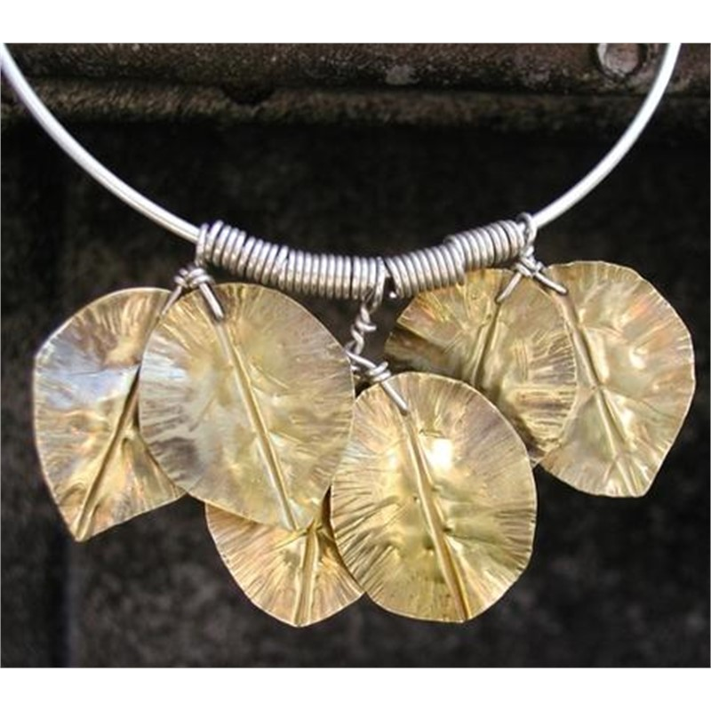 Brass Leaf Necklace by Duffy Brown