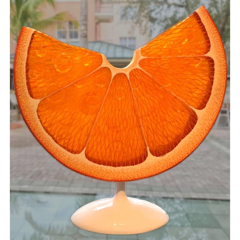 Dew Drop Orange Slice by Daniel Meyer