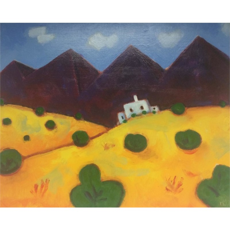 Sandia Mountain With Adobe House