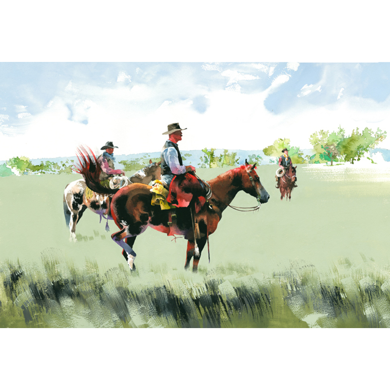 Warm Red Coat (3 cowboys - Artists ride 2013)