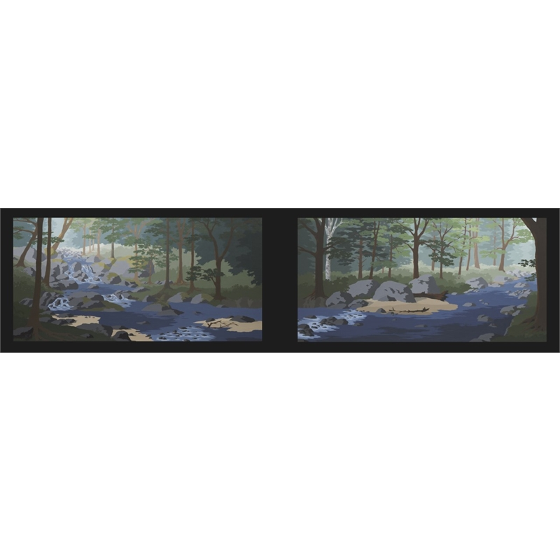 Bend in the River (Diptych)