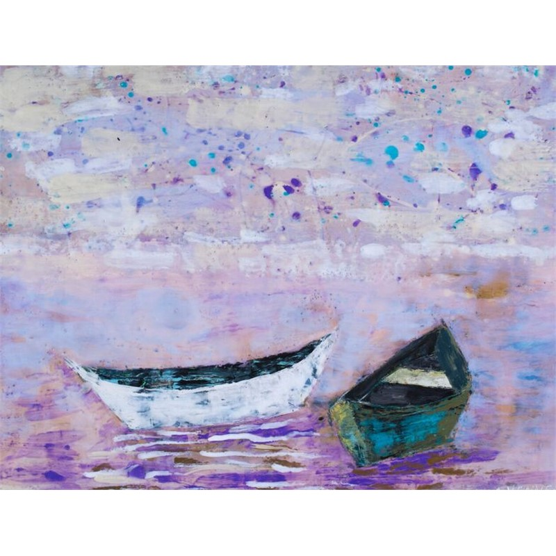 Boat Series: White and Green