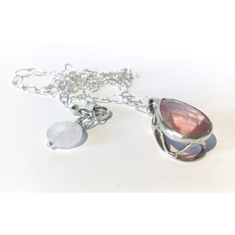 1324-21 Rose Quartz Necklace 20