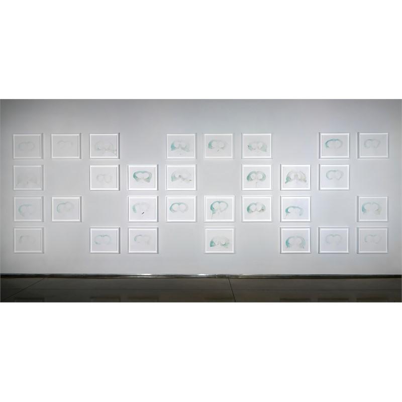 Sweat Prints Installation, 2018