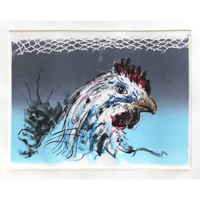 No. 2 Chicken Against Blue