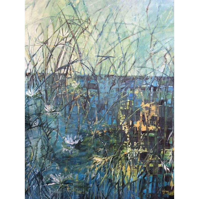 Pond in Abstraction by Marleen De Waele-De Bock