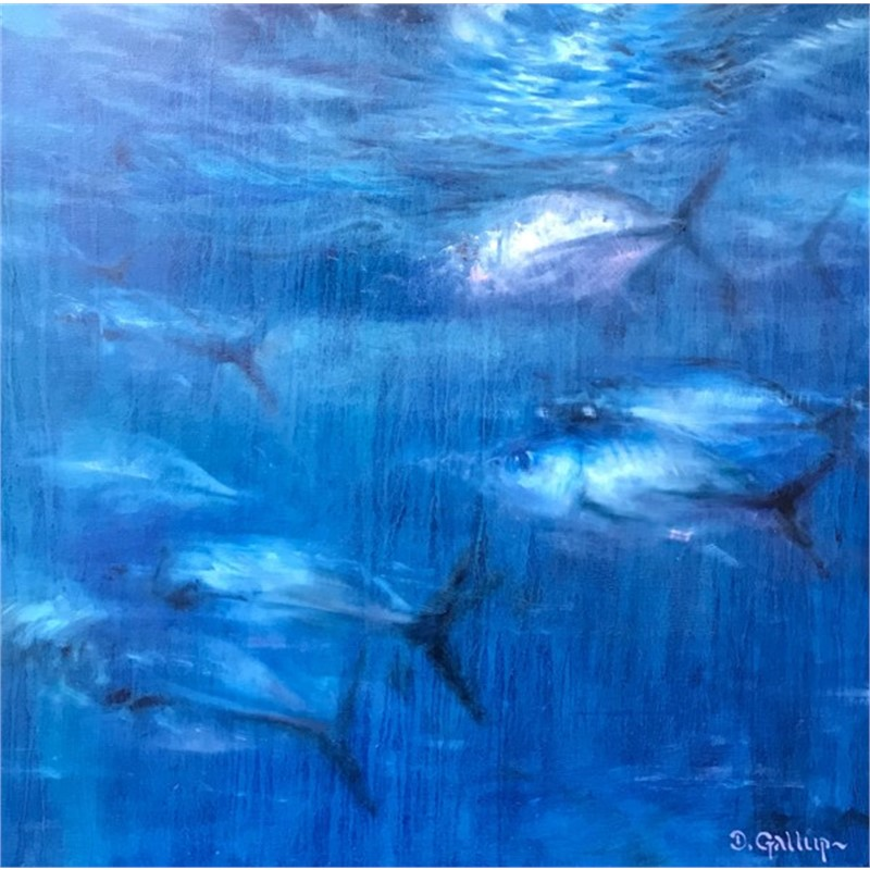 Blue Trevally in Moonlight