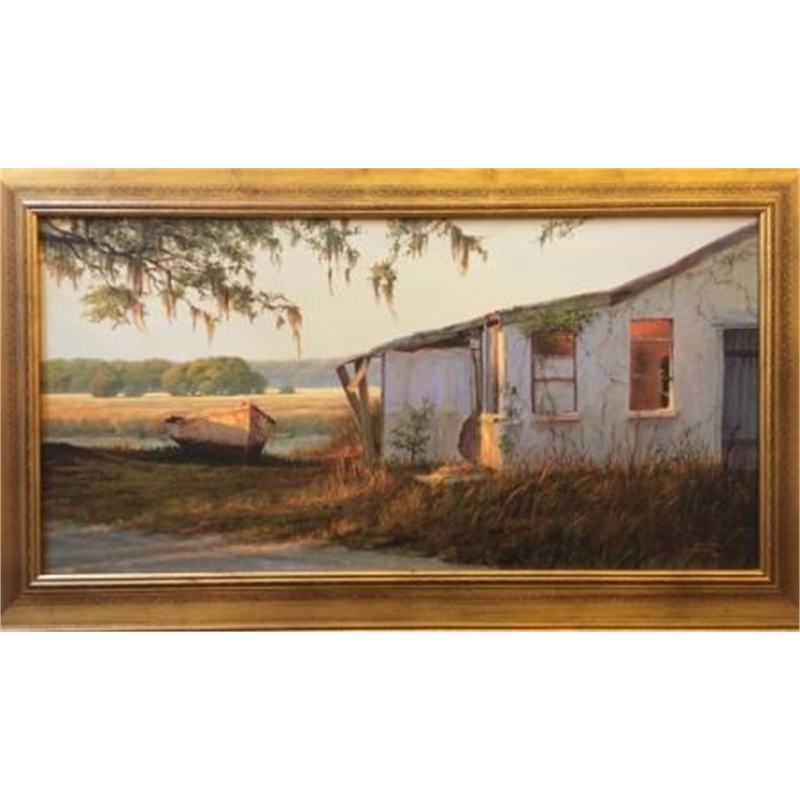 Oyster Factory and the Old Boat by Douglas Grier -- Giclee Prints