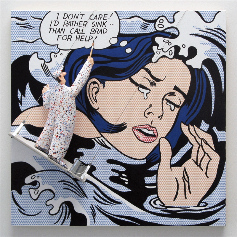 Drowning Girl (Lichtenstein), 2018