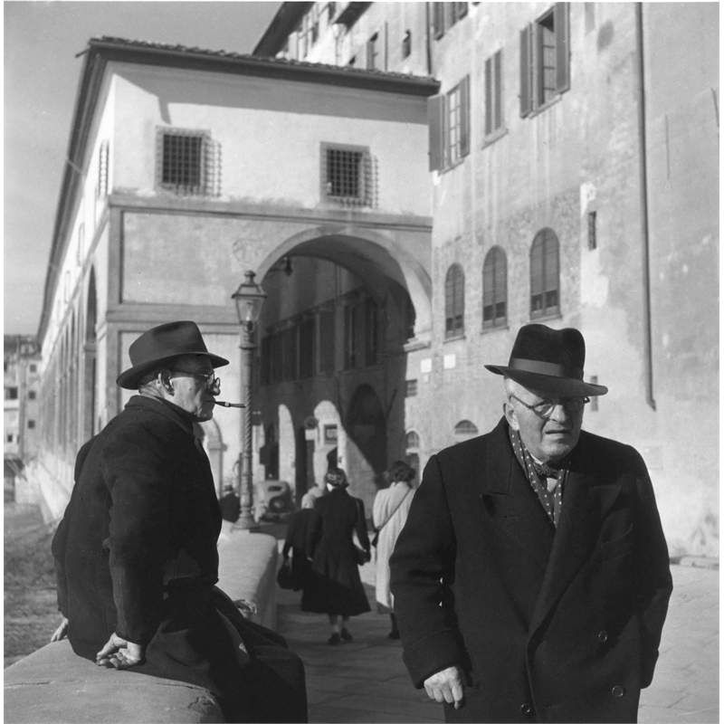 No. 097 Two Men on Street, Florence, Italy, 1951