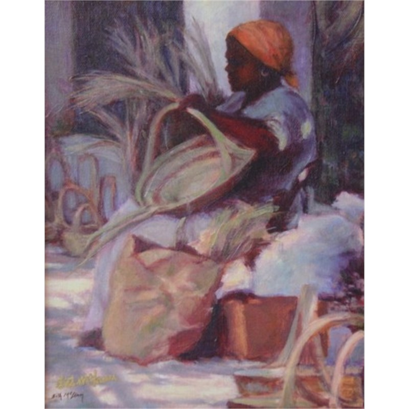 Basket Lady with Orange Kerchief